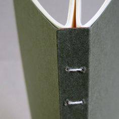 Could be a great way to bind two composition notebooks together--one for writer's workshop and one for reader's workshop.  A 2-section book binding