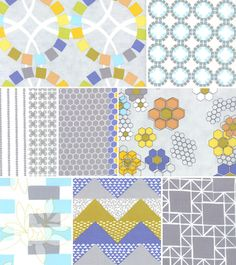 Quilt Blocks for Moda - LOVING the hexes!