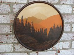 Vintage Retro Western Mountain Fall Ski Lodge by TreasureHut