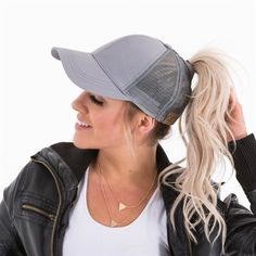 0a36aed52a46f Dad Hat CC Ponytail Baseball Cap Snapback Messy Bun Caps For Women Female  Summer Mesh Trucker Hat 2018 Fashion Girl Hip Hop Hats - Bestsellinglover