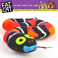 TrolaxTMFatcat Pet Dog Cat Toy Fat Cat Canvas Toy Red Snake Fat Cat Toy With Catmint Catnip Funny Chey Toy Pet Product -- Click image to review more details.