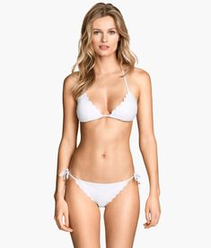 Product Detail | H&M GB Scalloped Edge White Bikini Top £12.99 Bottom £7.99