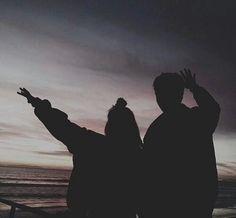 #beach #silhouette #black #clothes