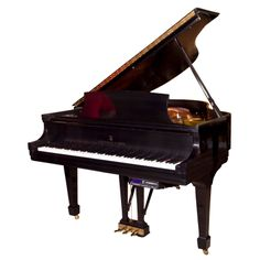 Steinway & Sons Babygrand Piano Model S  USA  1988  1988 Ebonized Steinway & Sons baby grand piano with mini disc player system, serial number 508793. This piano is in showroom condition.