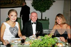 The Empress Farah Pahlavi , Francois Pinault and Christine Albanel (chairman of the Musee De Versailles) - 23rd antic fair (every 2 years) in Paris followed by a dinner to the benefit of the foundation 'Hopitaux de Paris - Hopitaux de France'.