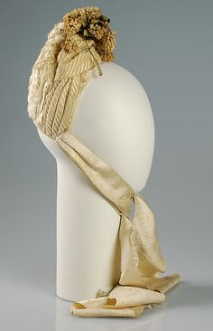 1880 ... Bonnet by Balch, Price & Co. ... wool, hair, silk & cotton ... at The Metropolitan Museum of Art ... photo 1