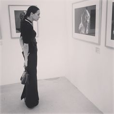 Diana Vishneva at (her?) exhibition courtesy of Diana Vishneva FB page