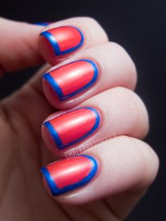 love the color contrast! #nails #bold