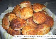 Csicsókás pogácsa Hamburger, Muffin, Bread, Breakfast, Cake, Food, Morning Coffee, Brot, Kuchen
