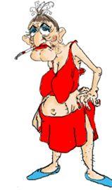 women in bathrobe cartoon Gif Animé, Animated Gif, Images Emoji, Senior Humor, Funny Good Morning Quotes, Funny Emoji, Cartoon People, Animation, Whimsical Art