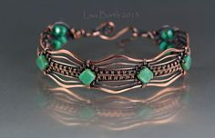 I think this is version #15 of this woven bracelet.  This one has a hammered, scalloped edge.