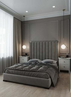 Design your life to suit your style perfectly. Mid-Century Bedroom Decor Tips & Tricks to Make This Bedroom Decor Last You Seasons and Seasons. Decorating a bedroom decor might be one of the biggest hardship Modern Luxury Bedroom, Luxury Bedroom Design, Master Bedroom Design, Luxury Interior Design, Contemporary Bedroom, Luxurious Bedrooms, Home Decor Bedroom, Bedroom Ideas, Trendy Bedroom