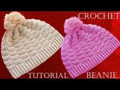 Como tejer un gorro a crochet - Beanie hat easy Crochet - YouTube