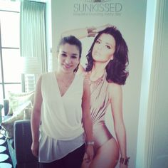 Amber from Reveal Magazine posing with the Lucy Meck cutout :)