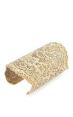 Still one of my favorite Aurelie Bidermann pieces:  Yellow Gold Laser Cut Lace Cuff