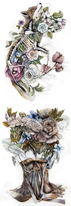 Mimesis: New Anatomical Paintings Depicting Flora and Fauna by Nunzio Paci (Beauty Design Drawing) Nunzio Paci, Flora Und Fauna, Colossal Art, Poses References, A Level Art, Anatomy Art, Claude Monet, Oeuvre D'art, Painting & Drawing