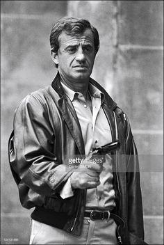 Set of 'Le professionnel' by Georges Lautner In France In June, 1981 - Jean-Paul Belmondo.