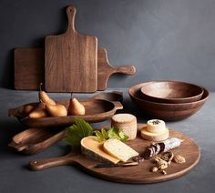 Shop Pottery Barn for wooden serveware expertly crafted from acacia wood. Find wooden cheese boards, bowls, platters and more, perfect for entertaining. Wooden Kitchen, Kitchen Decor, Kitchen Ideas, Wood Pizza, Rustic Bedroom Design, Kitchen Board, Dough Bowl, Wood Lathe, Router Wood