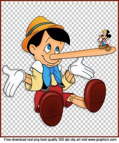 Pinocho And Mickey Clip art Photo