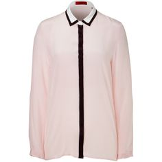 HUGO Silk Ellyn Blouse in Light Pink found on Polyvore | #WinterSummer #CoolWinter #style #dramatic #classic