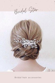 Bridal Hair Down, Bridal Hair Updo, Wedding Hair Down, Bridal Hair Vine, Headpiece Wedding, Bridal Veils, Star Wedding, Bridal Makeup, Wedding Makeup