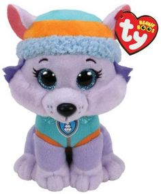 TY Everest of Paw Patrol is a Husky pup! Everest is wearing her blue snowy mountain vest and cap! Ty Beanie Boos, Beanie Babies, Paw Patrol Everest, Paw Patrol Pups, Paw Patrol Gifts, Ty Plush, Pink Lila, Lego, Dog Toys