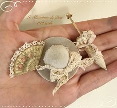 1:12 sombrero - miniaturas - casa de munecas - hecho a mano - estilo shabby chi