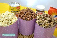receita pipoca doce gourmet leite ninho nutella ovomaltine