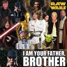 Star Wars + WWE #WWEfunny - USE THE FORCE, BROTHER! I love WWE and Starwars so this is priceless to me