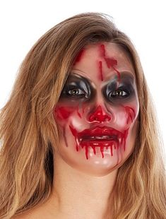 Máscara transparente ensangrentada Accesorios 2,50€ Otros Máscara transparente de mujer que cubrirá tu rostro con unas terroríficas manchas de sangre, dejando tu cara al