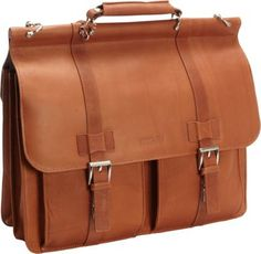 Kenneth Cole Reaction Mind Your Own Business - Colombian Leather Dowel Rod Laptop Case Cognac - via eBags.com!