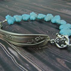 Upcycled jewelry spoon bracelet with light by laurelmoonjewelry, $18.00