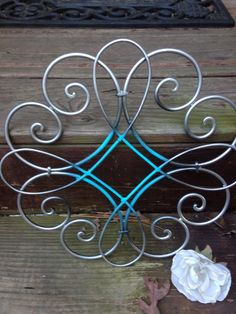 Shabby Chic Wall Decor Metal Wall Decor by LaBellasCottage on Etsy