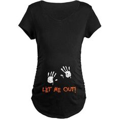 Shop Halloween Maternity T-Shirts from CafePress. Find the perfect shirt to adorn your baby bump. With thousands of designs to choose from, you are certain to find the unique item you've been seeking. Halloween Pregnancy Shirt, Pregnant Halloween Costumes, Pregnancy Shirts, Halloween Shirt, Maternity Halloween, Maternity Shirts, Maternity Fashion, Funny Maternity Clothes, Halloween Ideas