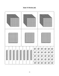 printable base ten blocks - Google Search