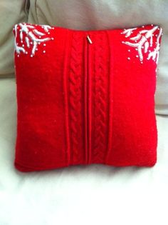 New Dress A Day - DIY - Ugly Holiday Vest - Holiday Pillow