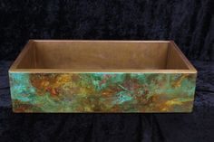 Colorful Rustic copper apron sink by Rachiele traditional kitchen sinks.  Paint the Altoid tin like this?