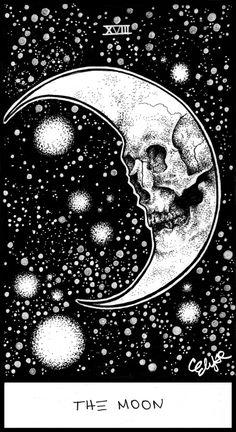Moon Tarot Art Print by Corinne Elyse