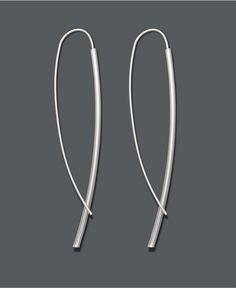 Studio Silver Sterling Silver Earrings, Dagger Drop Earrings - Earrings - Jewelry & Watches - Macy's
