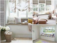 Relaksujące siedzisko pod oknem