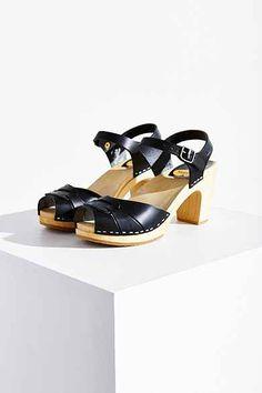 Swedish Hasbeens Peep-Toe Super High Sandal