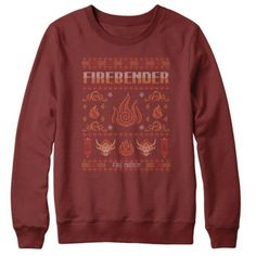 "lokgifsandmusings: Ugly Avatar Christmas Sweaters. I spend a little too much of my time on daily t-shirt websites, but I thought you guys would appreciate these…which are apparently ""gone forever"" in like 6 days. To be clear, they're sweatshirts with a sweater pattern printed on it, not actual sweaters, but still pretty sweet."