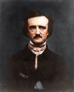 Edgar Allen Poe, Great American Poet. (Colorized Photo) 1848.