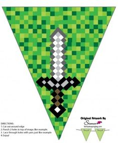 Banner 3, Minecraft, Party Decorations - Free Printable Ideas from Family Shoppingbag.com