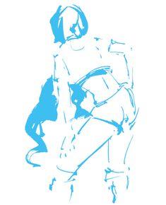 クロッキーからのGIFアニメ 画材・制作ソフト:Adobe Illustrator/Photoshop  墨 レースクィーンのモデルを墨と筆でクロッキー。それをPCで彩色したものをGIFアニメ化。GIF animation from Croquis materials, software: Croquis with a brush with a bracelet of a model of race queen. GIF animated cartooning it with PC.