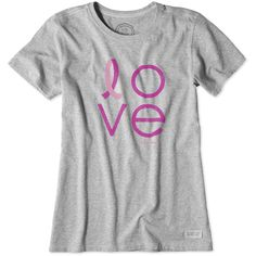 PINK OCTOBER - Life is good Love Ribbon Women s T-Shirt - Proceeds go to 1cceca7d9