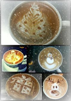 On the 5th day of Christmas my true love sent to me fine latte art!    Made by our fantastic baristas especially for you!