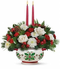 T14X100A Holly Days Centrepiece