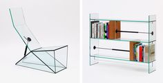 """BOOKENDS l Man Machine"""" glass furniture l Konstantin Grcic for Paris gallery Kreo in 2014. Photo © KGID"""
