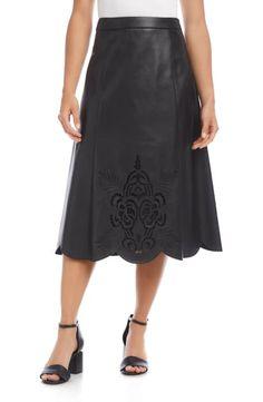 $149.0. KAREN KANE Skirt Faux Leather Midi Skirt #karenkane #skirt #midiskirt #leather #clothing